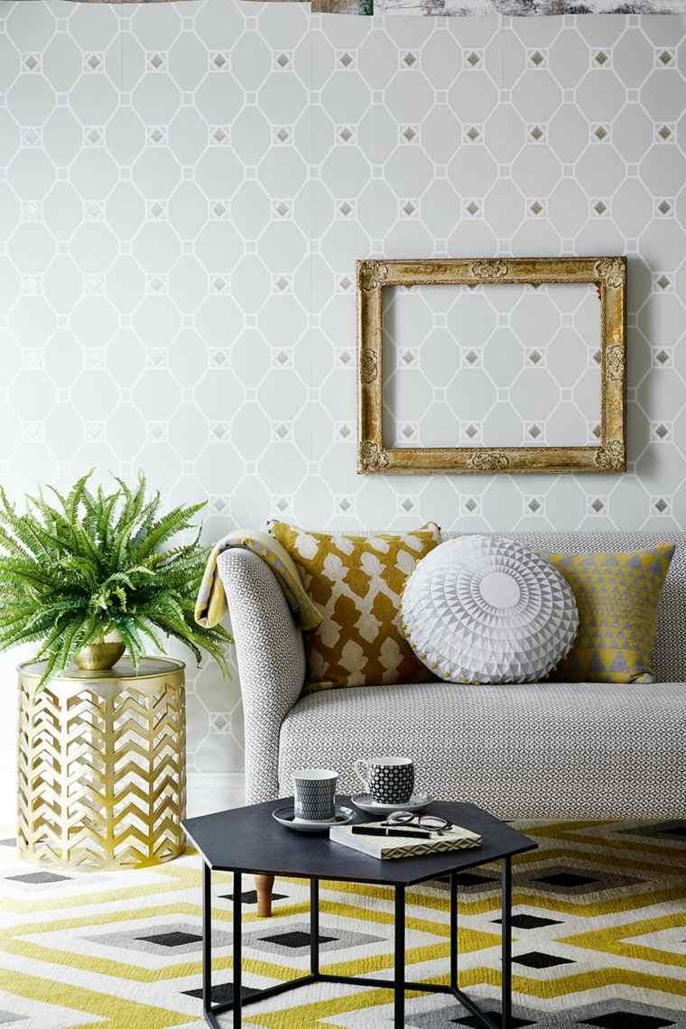 idees de deco murale salon moderne