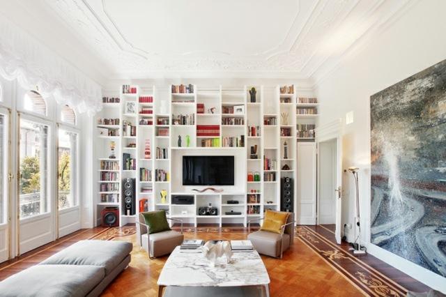 Une Bibliothque Pour La Salle De Sjour Un Must