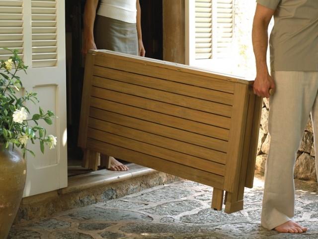 table de jardin pliante pratique et