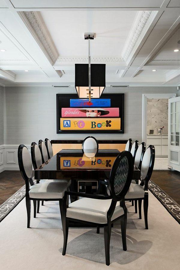 salle a manger moderne et design en noir