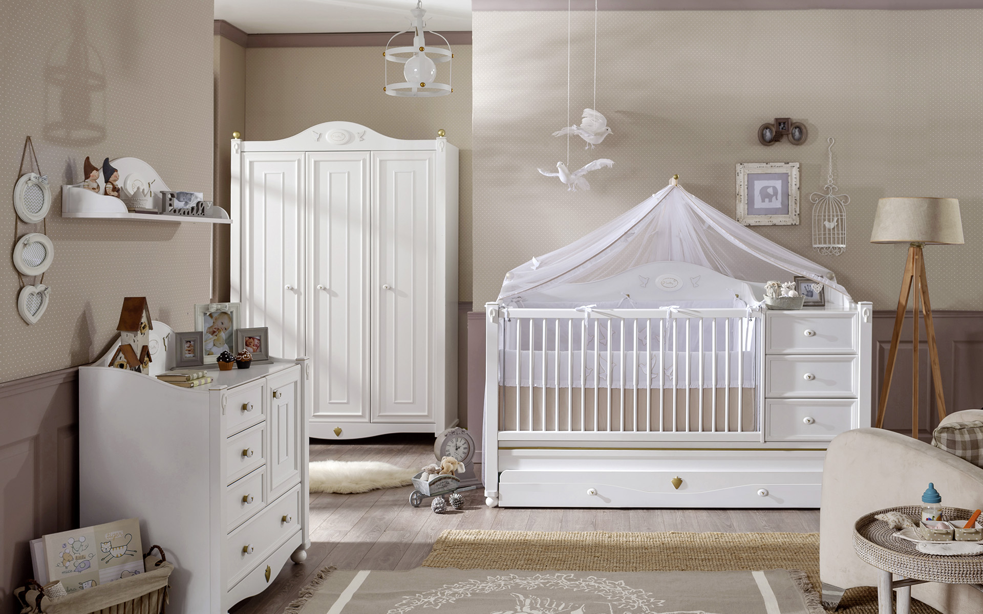decoration chambre bebe fille idee tapis sol