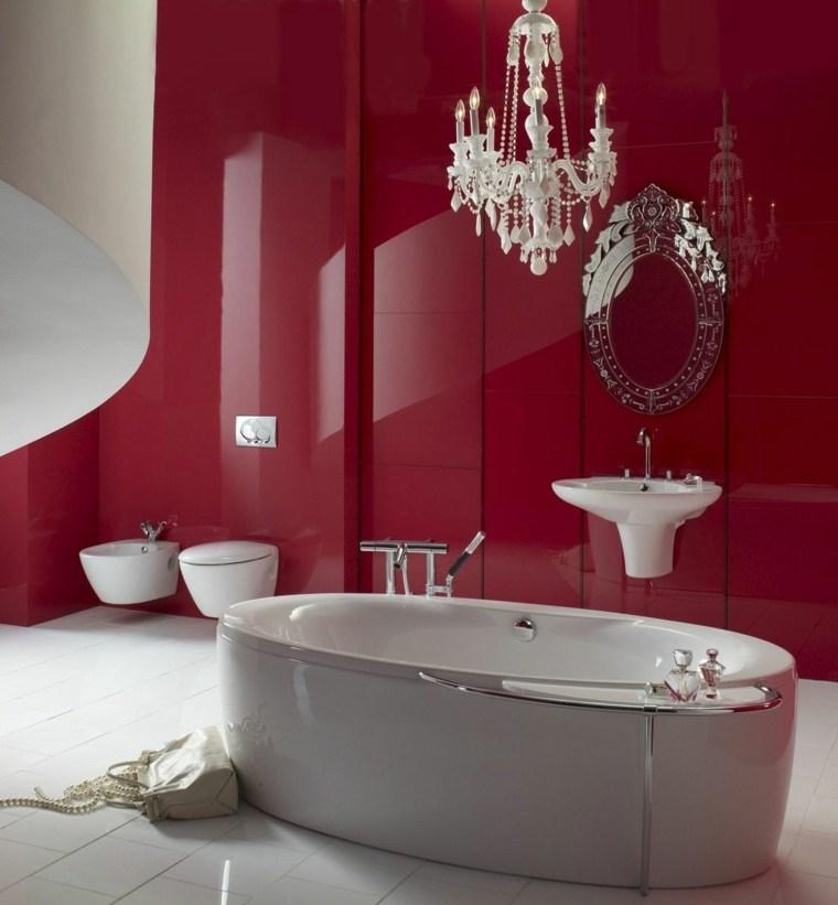 salle de bain rouge la couleur de la