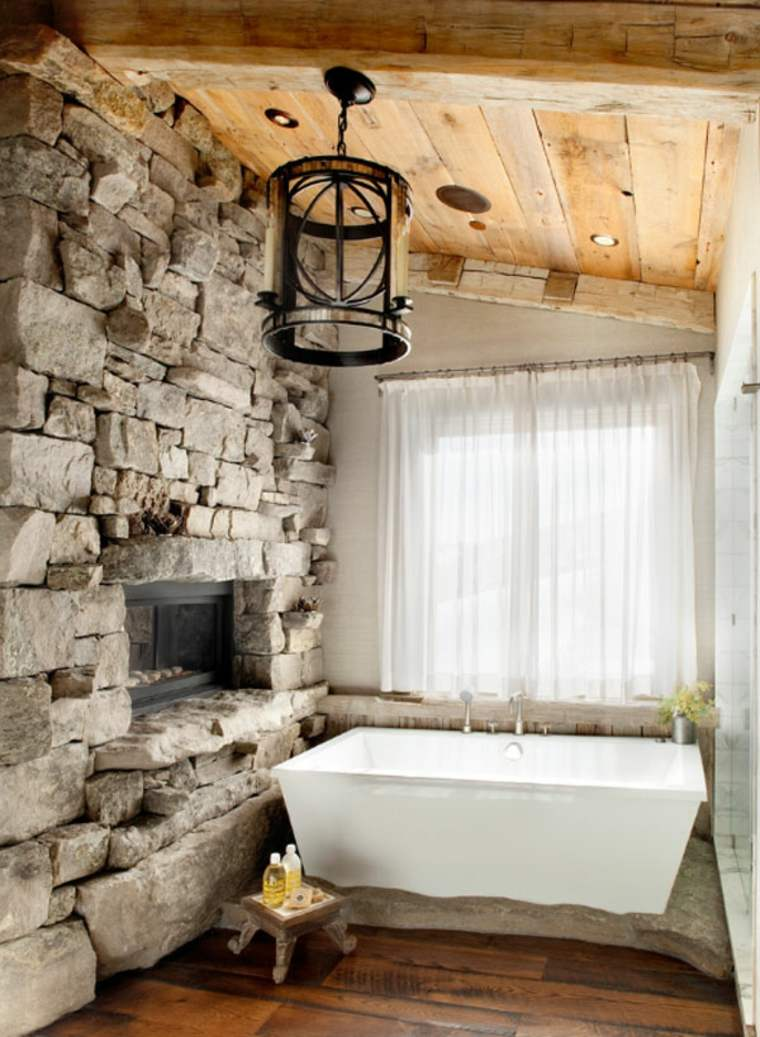 salle de bain pierre et bois une