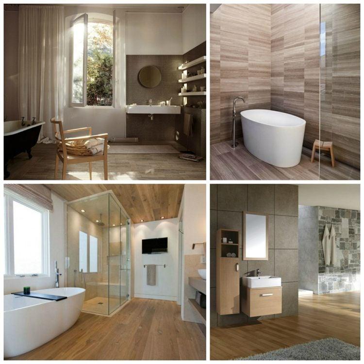carrelage salle de bain imitation bois