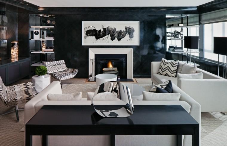 Dco Salon Noir Et Blanc Une Dualit Complmentaire