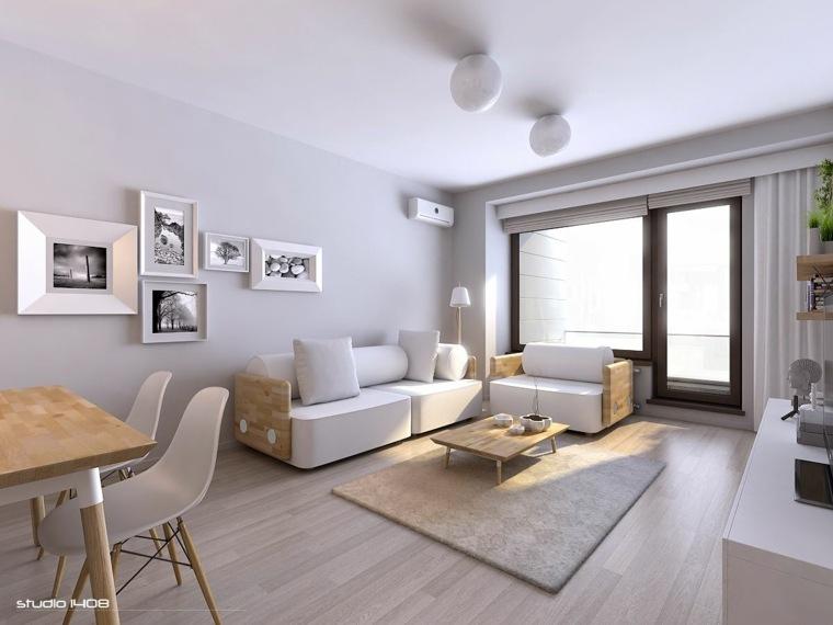 dco salon gris et blanc intrieur moderne minimaliste - Salon Gris Et Blanc