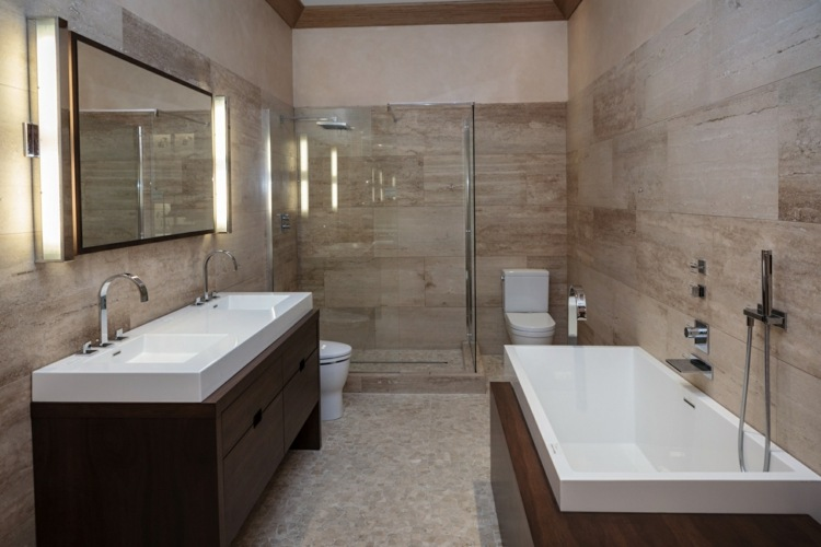 Carrelage Travertin Salle De Bain Et Comment Le Choisir Pour Plus De Confort