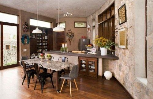 cuisine matériaux verts construction maison écolo intérieur design déco idée