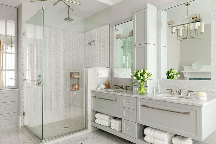salle de bain marbre 50 exemples d