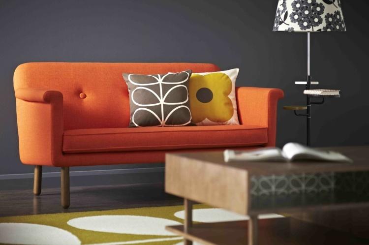Canap Orange Un Meuble Original Pour Le Salon