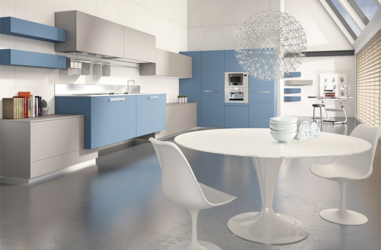 Blue and white kitchen design ideas. simple furniture options ...