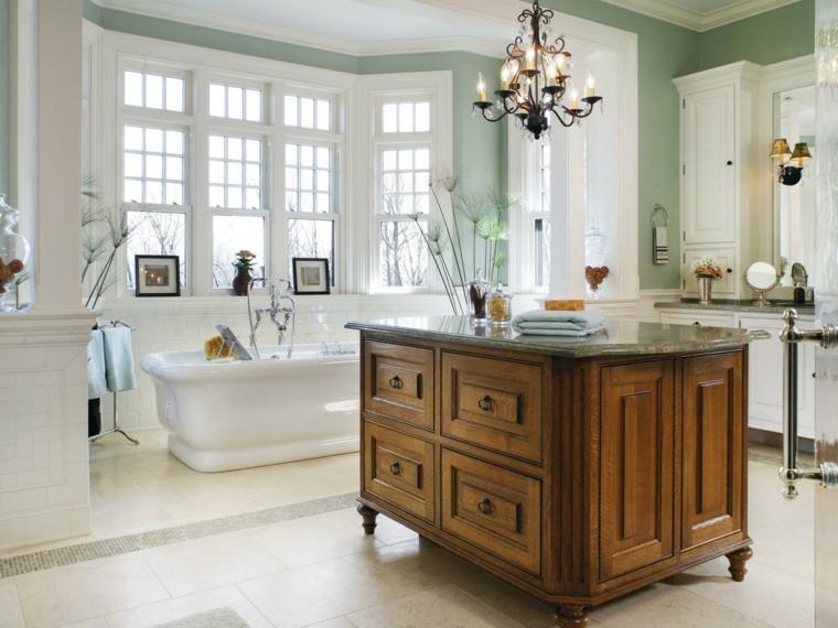 salle de bain ancienne bois design idee baignoire