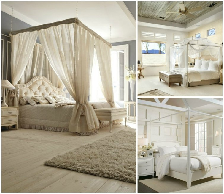 un lit baldaquin