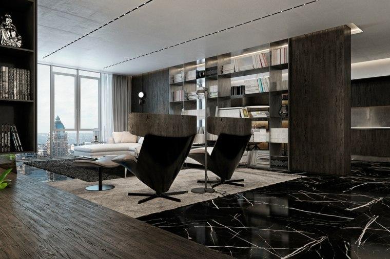 Appartement De Luxe En Couleurs Sombres En 3 Exemples