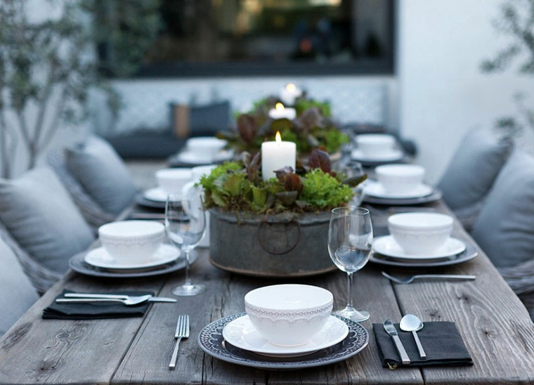 Contemporary Kitchen Table Centerpieces