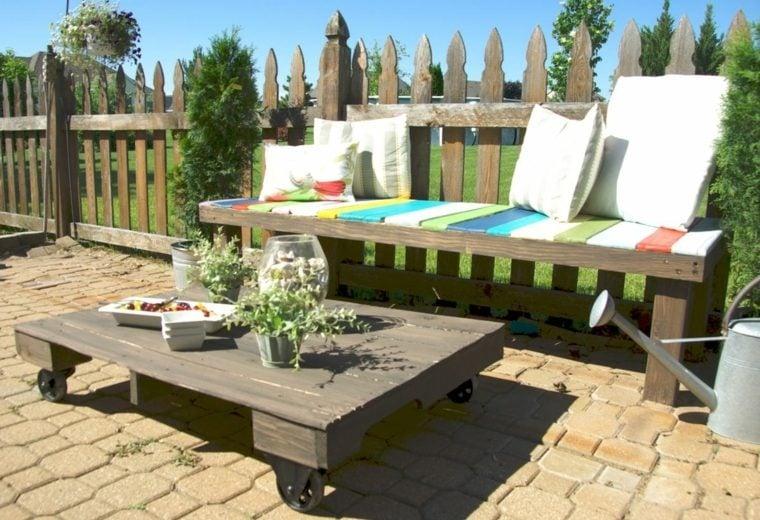 Meuble Jardin Palette Bois - On Log Wall