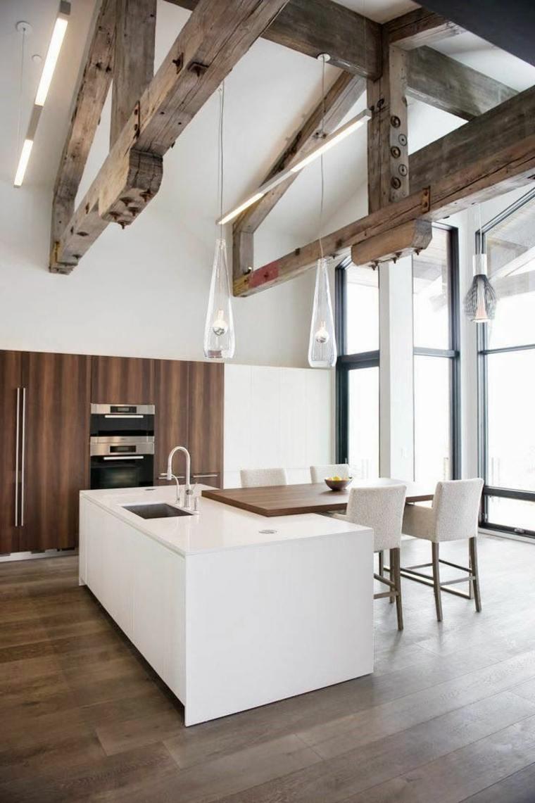 cuisine moderne blanche avec ilot en 83
