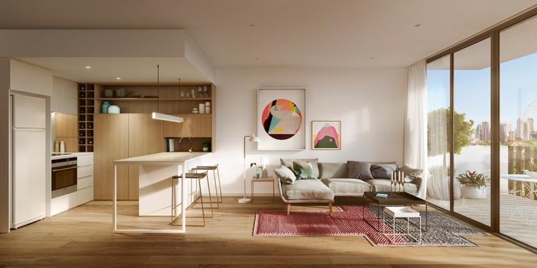 meuble separation cuisine salon en plus