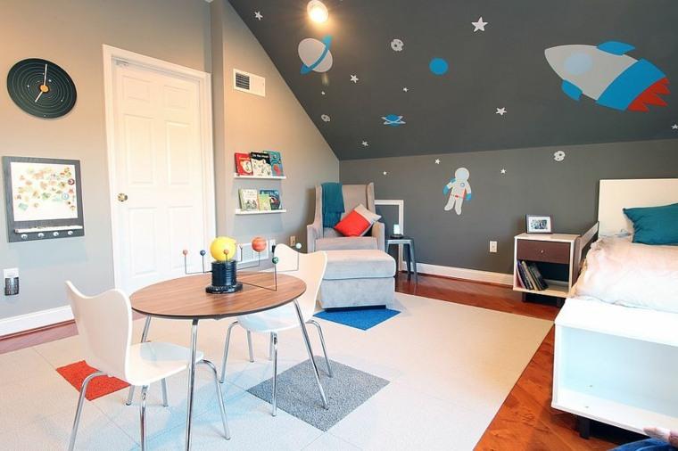 chambre pour enfant dans les tons gris