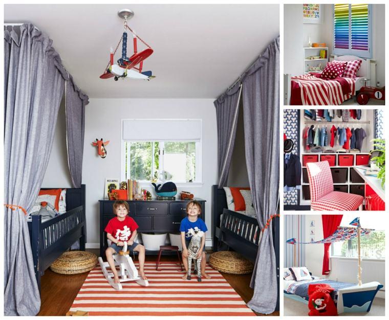 chambre enfant rouge en 46 idees deco