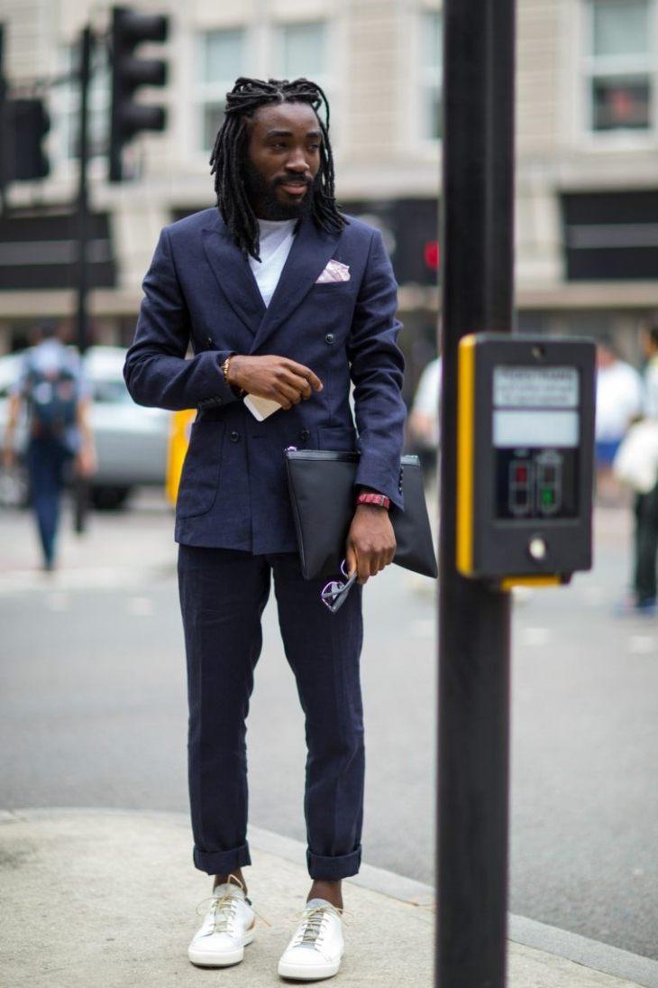tendance mode homme costume baskets moderne idée pantalon