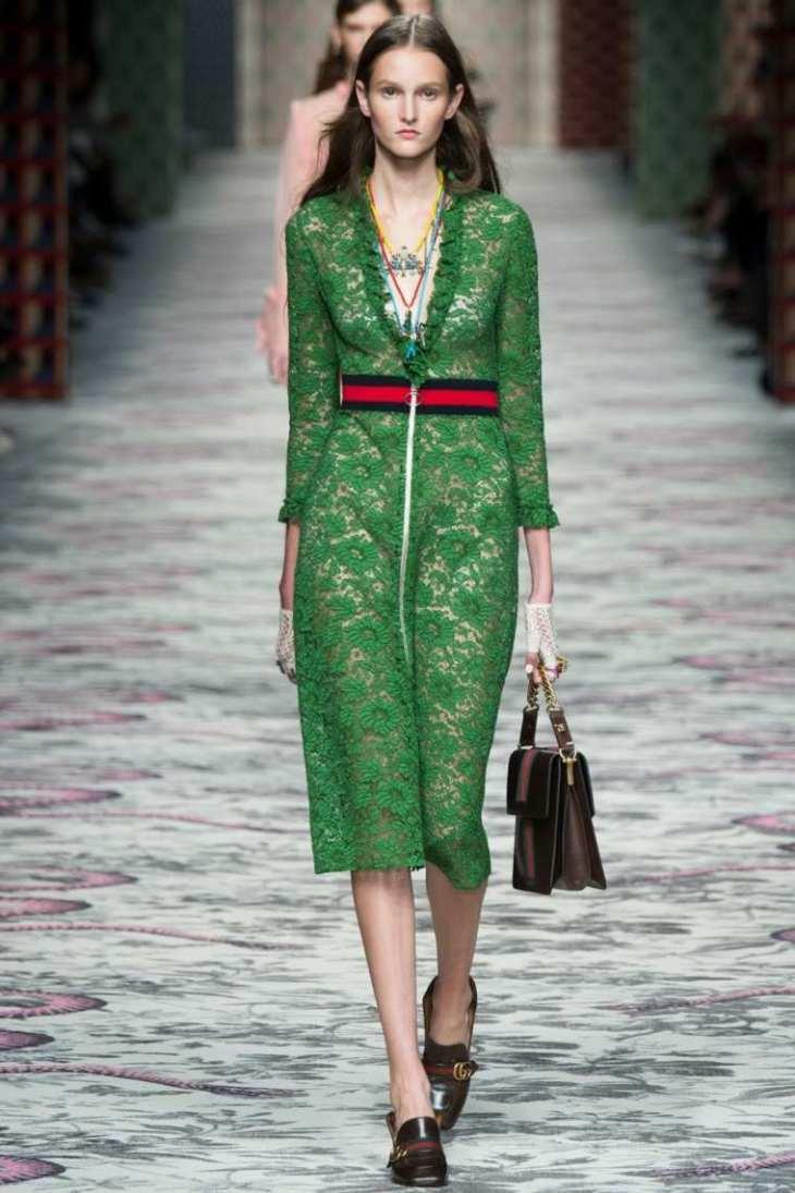 robe femme verte Gucci