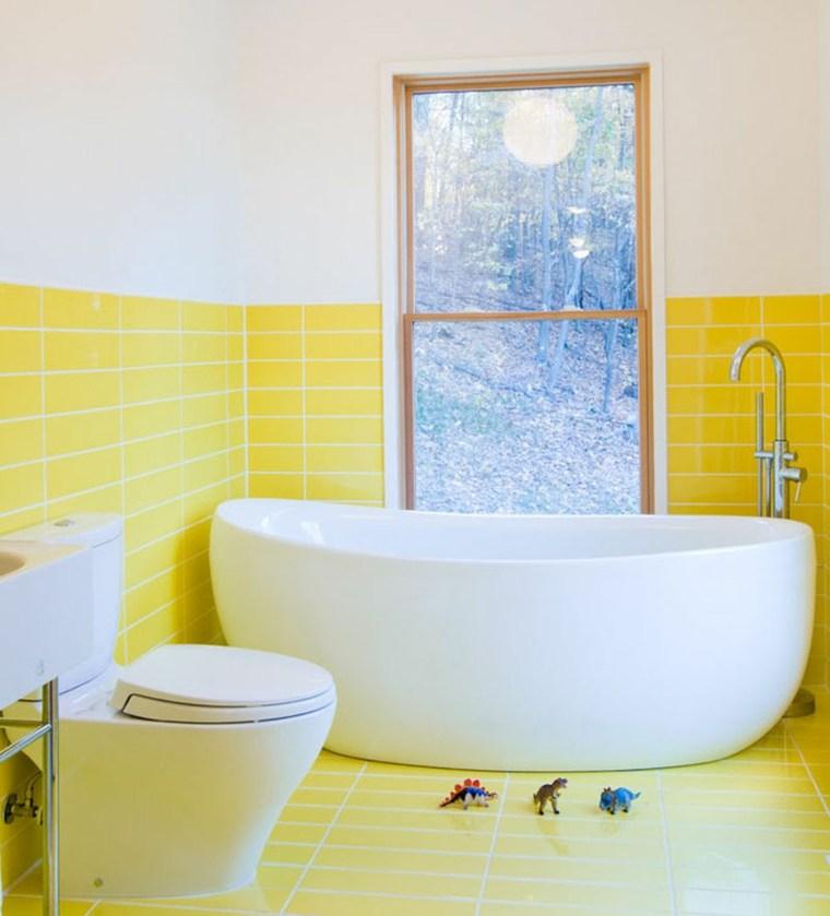 couleur pour salle de bain le jaune