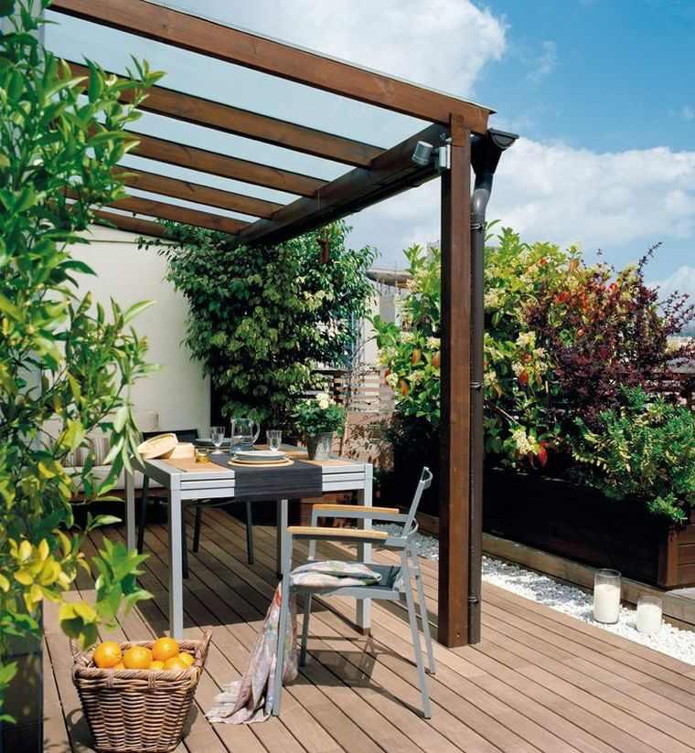 idee amenagement petit jardin bois decoration terrasse