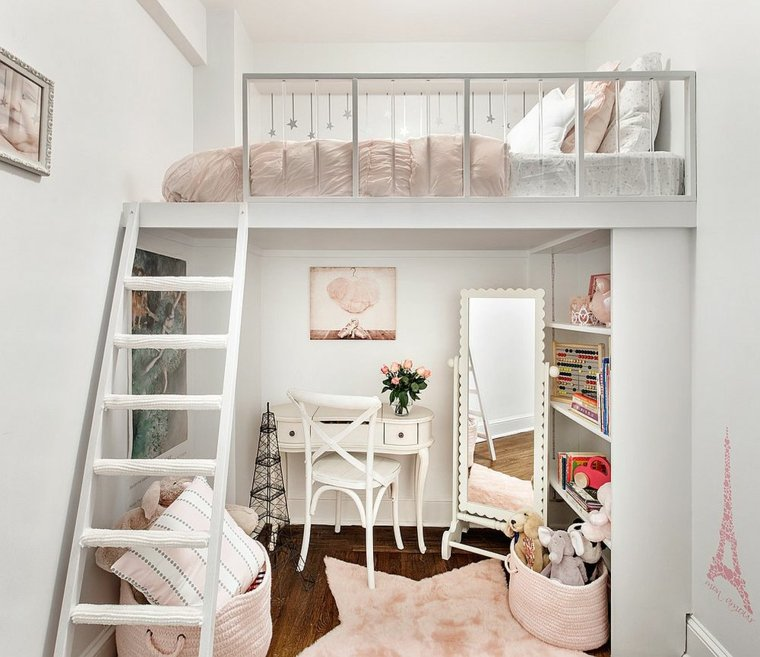 deco shabby chic idees fille chambre