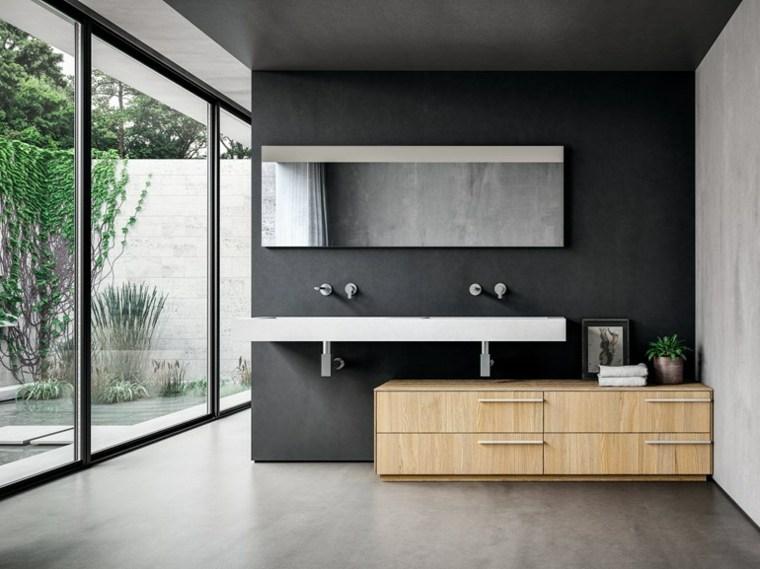 meuble salle de bain en teck et en bois