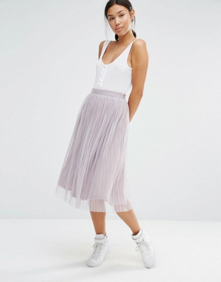 mode femme 2016 jupe plissée longue t-shirt maillot