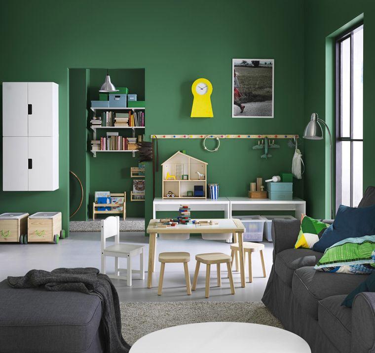 idee rangement chambre enfant style nordique ikea