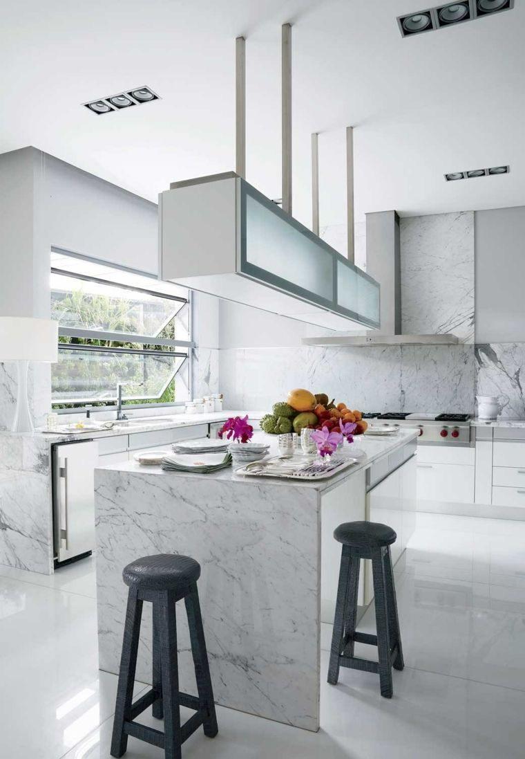 Plan De Travail Avec Jambage cuisine avec plan de travail marbre blanc - novocom.top