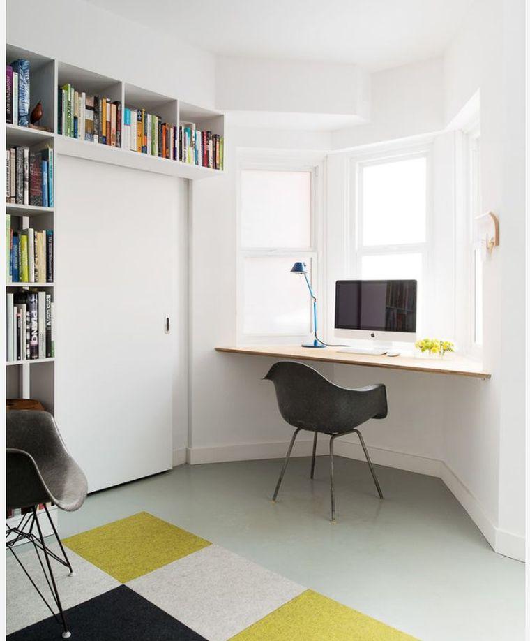 bureau suspendu un petit meuble et