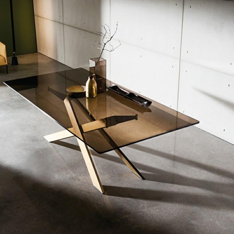 table en verre design pour un espace de