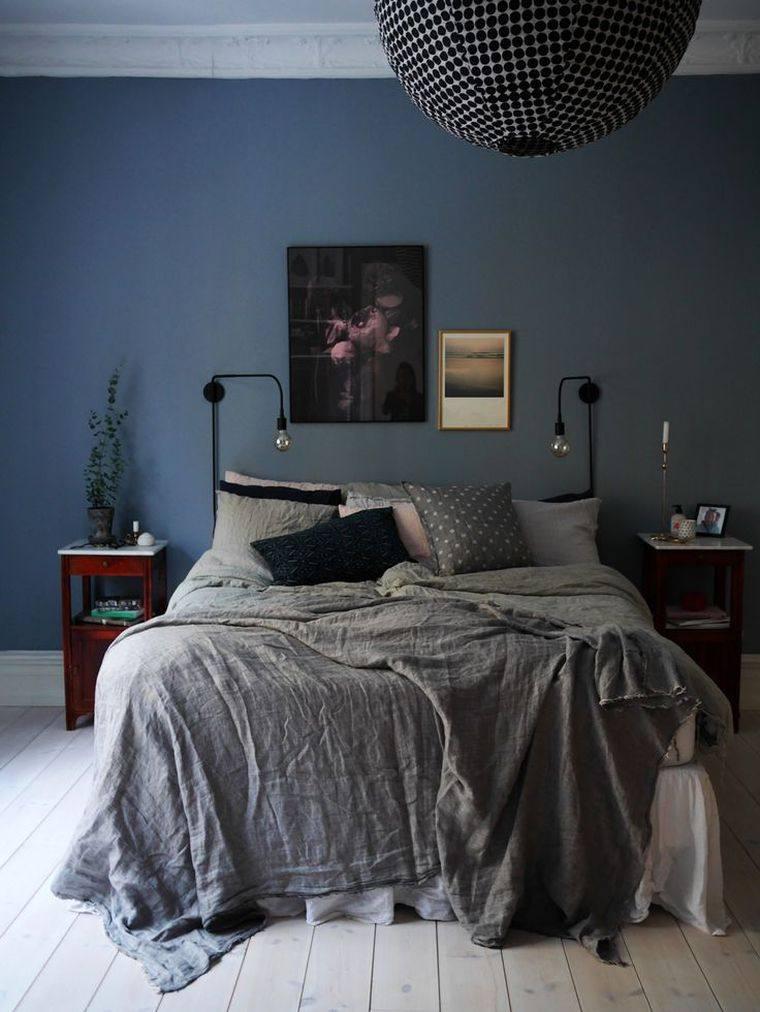 Chambre Bleu Et Gris Ides Dco En Tons Neutres Et Froids