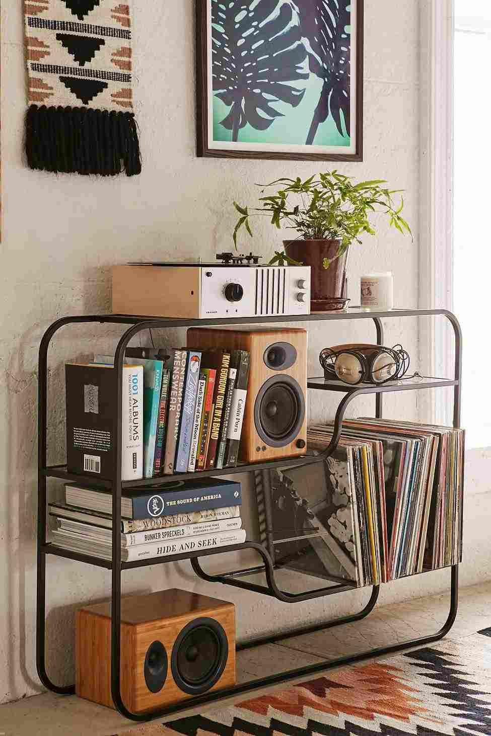 rangement vinyle fonctionnel et elegant
