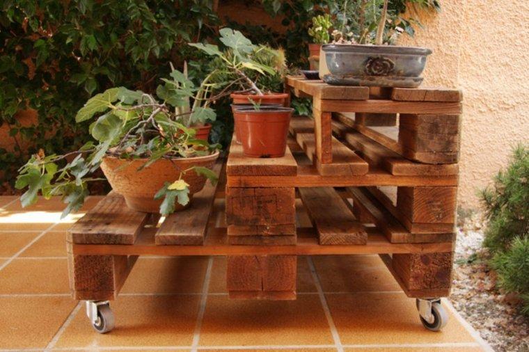 jardiniere en palette de bois 74