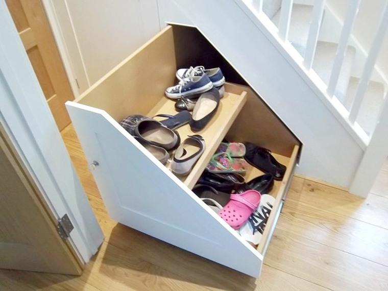 rangement chaussures sous escalier c