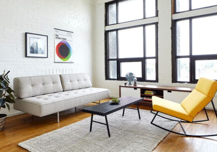 deco moderne salon canape gris design scandinave