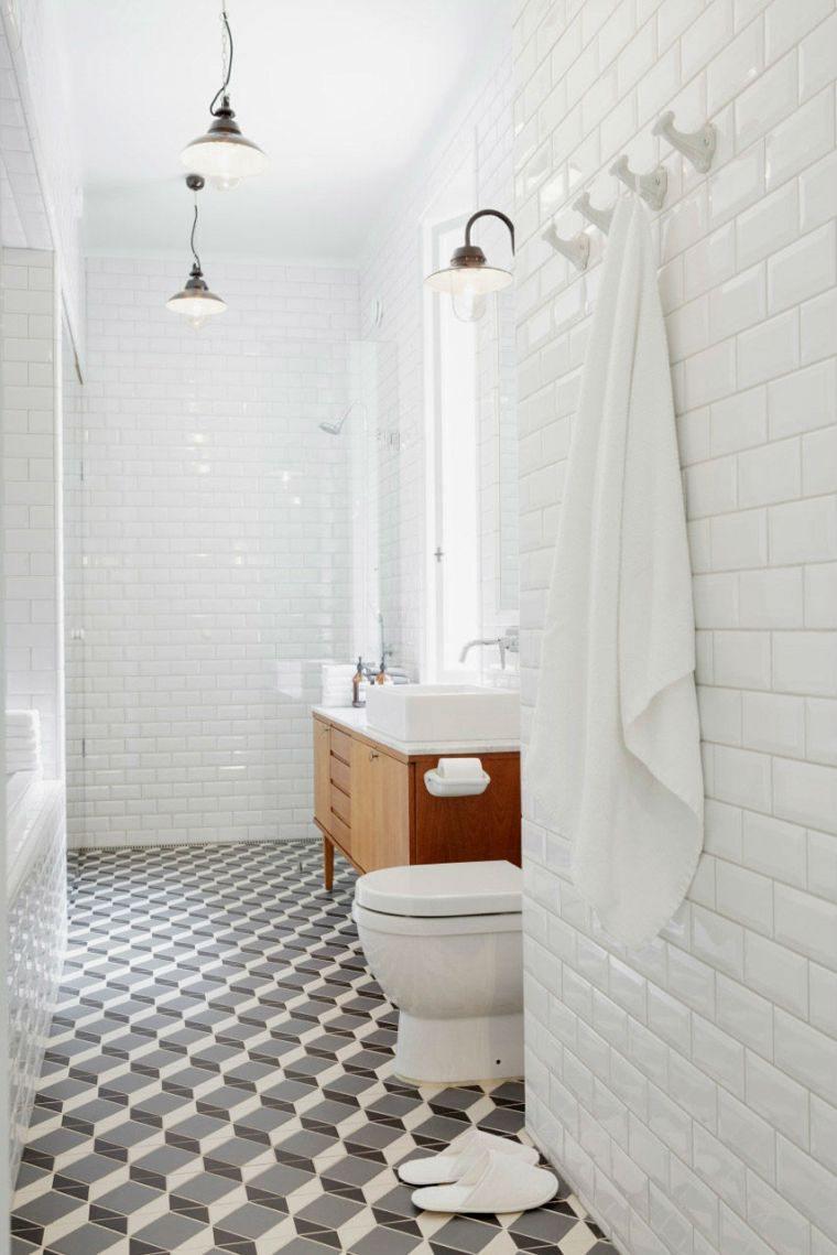 carrelage salle de bain grise et bois