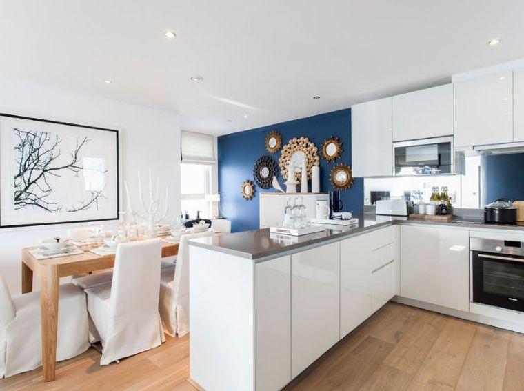 cuisine bleu 50 suggestions de decoration