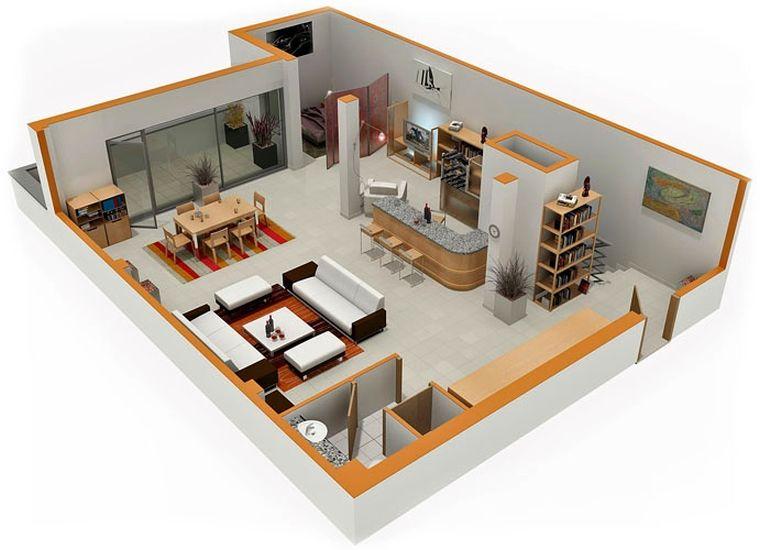Le Plan Appartement Dun Studio 50 Ides Originales