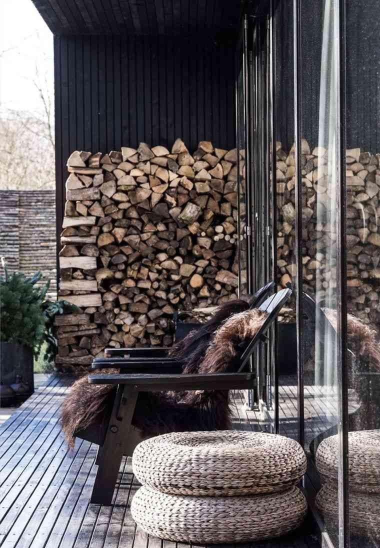 abri pour bois de chauffage a l