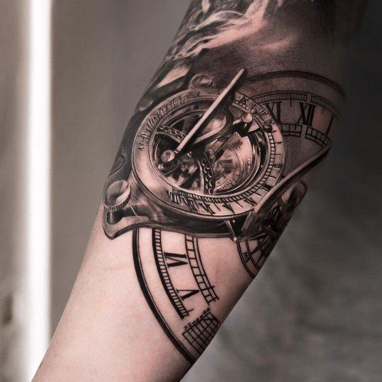 tatouage horloge avant bras homme tatouage idee