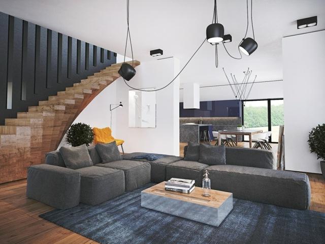 un appartement design avec escalier unique