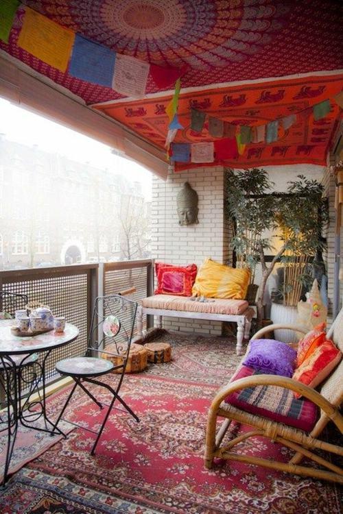 24 Ides De Balcons Dcors Dans Le Style Bohme Chic
