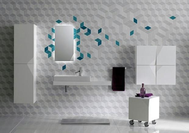 le carrelage mural salle de bain comme