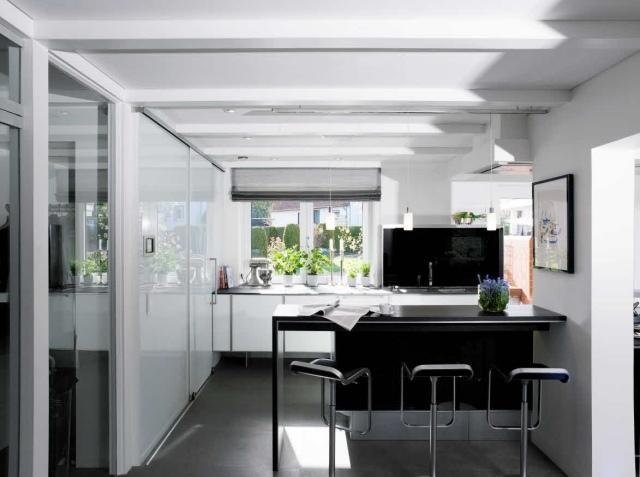 Cuisine Moderne En Noir Et Blanc 35 Ides Magnifiques