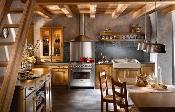 Cuisine Rustique Et Son Charme Naturel 20 Intrieurs